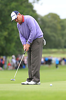 Gary Murphy (IRL) putts on the 9th green during Day 1 Thursday of The Irish Open presented by Discover Ireland at Killarney Golf & Fishing Club on 28th July 2011 (Photo Jenny Matthews/www.golffile.ie)