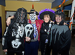 Staff members Liam Duggan, Michael O Brien, Moira Corbett and Silla Lernihan at the Clare Champion Halloween Party for Ennis NS and Holy family school children. Photograph by John Kelly.