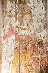 Medieval painting of Saint Michael, church of Saint Lawrence, South Cove, Suffolk, England, UK