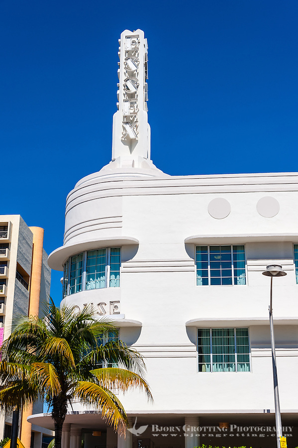 US, Florida, Miami Beach. Art Deco, Essex House Hotel. Collins Ave.