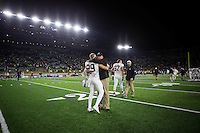 South Bend, IN - October 15, 2016: The Stanford Cardinal defeats the Notre Dame Fighting Irish 17-10 in South Bend, Indiana.