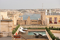 Palazzo Consiglia, rooftop view over Valetta, Malta