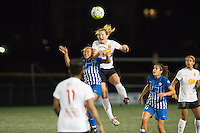 Allston, MA - Saturday Sept. 24, 2016: Brittany Ratcliffe, Samantha Mewis during a regular season National Women's Soccer League (NWSL) match between the Boston Breakers and the Western New York Flash at Jordan Field.
