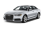 2016 Audi A6 Competition 4 Door Sedan angular front stock photos of front three quarter view