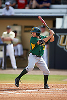 Siena Saints left fielder Ryne Martinez (9) at bat during a game against the UCF Knights on February 21, 2016 at Jay Bergman Field in Orlando, Florida.  UCF defeated Siena 11-2.  (Mike Janes/Four Seam Images)
