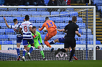 25th January 2020; Madejski Stadium, Reading, Berkshire, England; English FA Cup Football, Reading versus Cardiff City; Callum Paterson of Cardiff City scores in the 5th minute 0-1