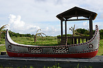 Orchid Island (蘭嶼), Taiwan -- Traditional boat monument