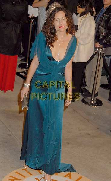 MINNIE DRIVER.The 2007 Vanity Fair Oscar Party Hosted by Graydon Carter held at Morton's, West Hollywood, California, USA, 25 February 2007..oscars full length blue teal dress ruffles.CAP/ADM/GB.©Gary Boas/AdMedia/Capital Pictures.