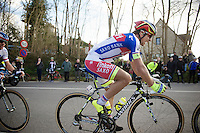 2014 winner (thus nr 1) Peter Sagan (SVK/Tinkoff-Saxo) reaches the top of the Tiegemberg, last climb of the day.<br /> <br /> 58th E3 Harelbeke 2015