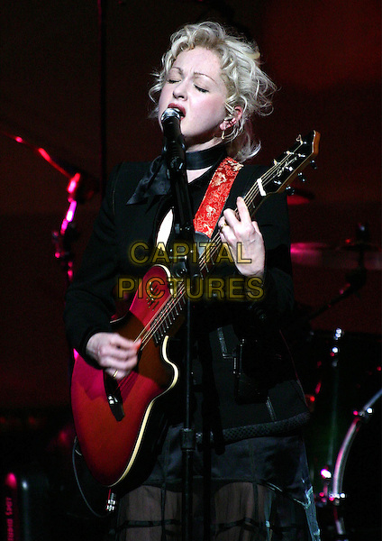 CYNDI LAUPER.in concert at Town Hall in New York City..11 March 2004.*UK Sales Only*.music, live, gig, concert, singing, playing guitar, stage.www.capitalpictures.com.sales@capitalpictures.com.©Capital Pictures.