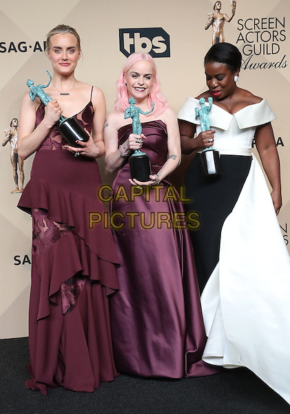 29 January 2017 - Los Angeles, California - Taylor Schilling, Taryn Manning, Uzo Aduba. 23rd Annual Screen Actors Guild Awards held at The Shrine Expo Hall. <br /> CAP/ADM/FS<br /> &copy;FS/ADM/Capital Pictures