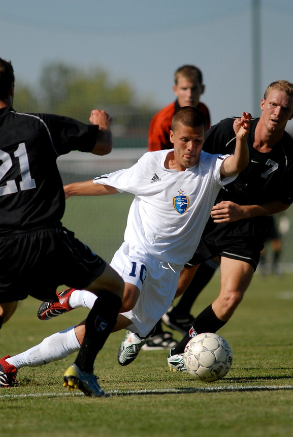 Rocky Mountain Athletic Conference Division II college soccer action - Fort Lews College.