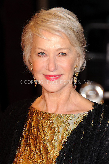 WWW.ACEPIXS.COM . . . . .  ..... . . . . US SALES ONLY . . . . .....February 1 2011, London....Dame Helen Mirren at the UK Film Premiere of 'Brighton Rock' at the Odeon West End on February 1 2011 in London....Please byline: FAMOUS-ACE PICTURES... . . . .  ....Ace Pictures, Inc:  ..Tel: (212) 243-8787..e-mail: info@acepixs.com..web: http://www.acepixs.com