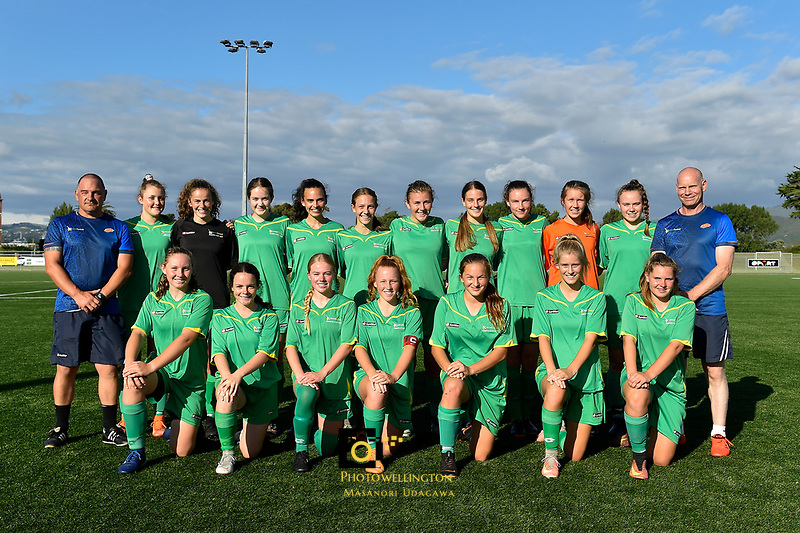 U16 Girls Central Team, National Age Group Tournament at Petone Memorial Park, Lower Hutt, New Zealand on Wednesday 12 December  2018. <br />
