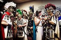 Alcuni partecipanti alle celebrazioni per il 2760 anniversario della fondazione di Roma. Members of a historical re-enactment society during a parade marking the 2,760th anniversary of the founding of Rome, Saturday April 21, 2007.