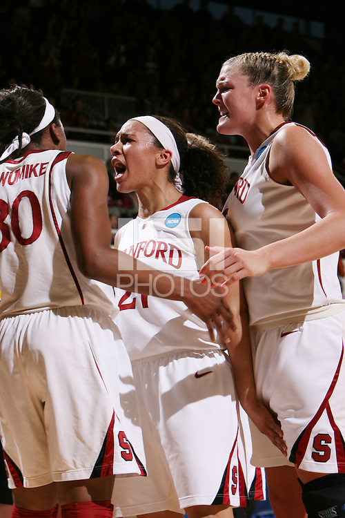 STANFORD, CA - MARCH 22:  Rosalyn Gold-Onwude of the Stanford Cardinal during Stanford's 96-67 win over Iowa in the second round of the NCAA Women's Basketball Tournament at Maples Pavilion in Stanford, California.