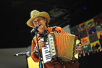 El Sueno Existe Festival<br /> Machynlleth<br /> Wales<br /> Our Future, Our Planet Our Dream<br /> Flakito, singer and accordionist.