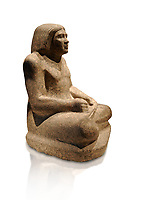 Ancient Egyptian statue from Thebes, 500 BC, Neues Museum Berlin