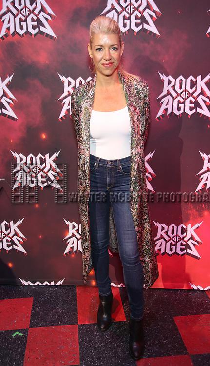 "Kelly Devine during the tech rehearsal for ""Rock of Ages"" 10th Anniversary Production on June 13, 2019 at the New World Stages in New York City."