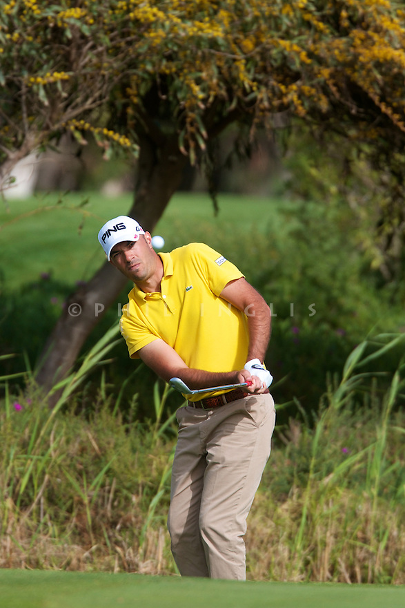 Gregory Havret (FRA) in action during the first round of the 39th Trophee Hassan II played at the Golf du Palais Royal d'Agadir, Agadir, Morocco 22 - 25 March 2012. (Picture Credit / Phil Inglis)