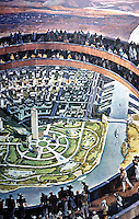 "Utopia:  New York World's Fair 1939--""Democracity"".   THE METROPOLIS OF THE MACHINE AGE --Koolhaas, p. 229."