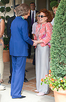 ATENCAO EDITOR IMAGEM EMBARGADA PARA VEICULOS INTERNACIONAIS - MADRI, ESPANHA, 18 SETEMBRO 2012 - RAINHA SOFIA - A rainha da Espanha Sofia, durante visita ao Centro de Adocao Animal do ANAA (Associacao Nacional dos amigos dos Animais) , nesta teca-feira, 18 em Madri capital da Espanha, nesta 18. (FOTO: ALFAQUI / BRAZIL PHOTO PRESS).