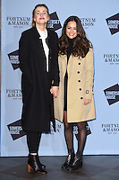 Stefanie Martini and Aysha Kala<br /> at the launch of the Skate at Somerset House ice rink, London.<br /> <br /> ©Ash Knotek  D3199  16/11/2016