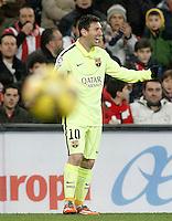 FC Barcelona's Leo Messi celebrates goal during La Liga match.February 8,2015. (ALTERPHOTOS/Acero) /NORTEphoto.com