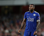 Leicester's Wes Morgan in action during the premier league match at the Emirates Stadium, London. Picture date 11th August 2017. Picture credit should read: David Klein/Sportimage