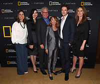 "LOS ANGELES - APRIL 7: (L-R) Carolyn Bernstein, Julianna Margulies, Gary Knell, Lynda Obst, Topher Grace, and Kelly Souders attend a World Health Day dinner and first look at National Geographic's ""The Hot Zone"" at the Terrace Room at Sunset Tower Hotel on April 7, 2019 in Los Angeles, California. (Photo by Frank Micelotta/National Geographic/PictureGroup)"