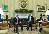 United States President Barack Obama, right, and Prime Minister Malcolm Turnbull of Australia, left, speak to the media prior to a meeting in the Oval Office at the White House on Washington, D.C. on January 19, 2016. <br /> Credit: Kevin Dietsch / Pool via CNP