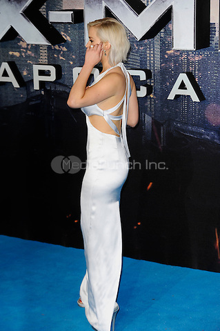 LONDON, ENGLAND - MAY 9: Jennifer Lawrence attending the 'X-Men: Apocalypse' - Global Fan Screening at BFI IMAX in London on May 9, 2016 in London, England.<br /> CAP/MAR<br /> &copy; Martin Harris/Capital Pictures /MediaPunch ***NORTH AND SOUTH AMERICAN SALES ONLY***