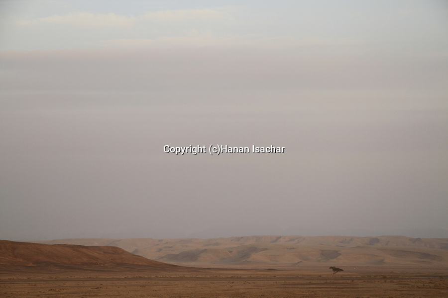 Israel, Negev, a view of Ovda Valley
