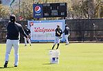 Ichiro Suzuki (Yankees), Hideki Matsui ,<br /> FEBRUARY 20, 2014 - MLB : Ichiro Suzuki (2ndR) of the New York Yankees and guest instructor Hideki Matsui (L) during the Yankees spring training baseball camp at George M. Steinbrenner Field in Tampa, Florida, United States.<br /> (Photo by Thomas Anderson/AFLO) (JAPANESE NEWSPAPER OUT)