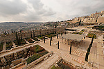 Israel, A view of Jerusalem Archaeological Park as seen from the Crusader Tower, in the background are the Jewish Quarter and Mount Zion, on the right is the southern wall of Temple Mount<br />