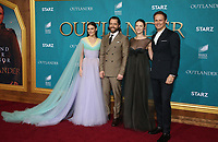 "13 February 2020 - Hollywood, California - Sophie Skelton, Richard Rankin, Caitriona Balfe, Sam Heughan. the Premiere Of Starz's ""Outlander"" Season 5 held at Hollywood Palladium. Photo Credit: FS/AdMedia /MediaPunch"