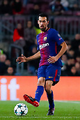 5th December 2017, Camp Nou, Barcelona, Spain; UEFA Champions League football, FC Barcelona versus Sporting Lisbon; Sergio Busquets of FC Barcelona passes the ball