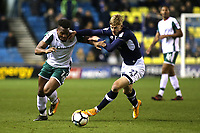 Dimitri Cavare of Barnsley tries to shake off a challenge from Millwall's Kris Twardek during Millwall vs Barnsley, Emirates FA Cup Football at The Den on 6th January 2018