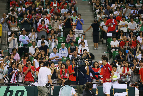 Kei Nishikori (JPN), SEPTEMBER 13, 2013 - Tennis : Davis Cup 2013 by BNP Paribas World Group Play-off first singles game, Japan 3-0 Columbia at Ariake Coliseum, Tokyo, Japan. (Photo by Yusuke Nakanishi/AFLO SPORT) [1090]