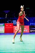17th March 2018, Arena Birmingham, Birmingham, England; Yonex All England Open Badminton Championships; Pusarla V Singhu (IND) in her semi-final match against Akane Yamaguchi (JPN)