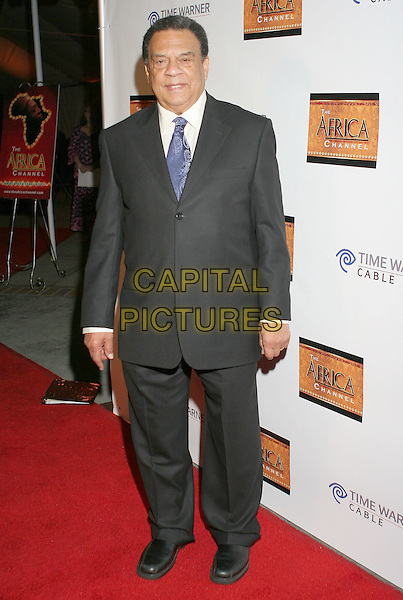 AMBASSADOR ANDREW YOUNG .The Africa Channel Celebrates it's Launch on Time Warner Cable-Channel 176 at the California African American Museum, Los Angeles, California, USA,  20 November 2008..full length grey gray suit blue tie .CAP/ADM/TC.©T. Conrad//Admedia/Capital Pictures
