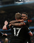 Gabriel Jesus of Manchester City celebrates scoring their fourth goal during the Premier League match at Villa Park, Birmingham. Picture date: 12th January 2020. Picture credit should read: Darren Staples/Sportimage