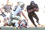 Beverly Hills, CA 09/23/11 - Rory Hubbard (Peninsula #33), A.J. Hezlep (Peninsula #55) and unknown Beverly Hills player(s) in action during the Peninsula-Beverly Hills frosh football game at Beverly Hills High School.