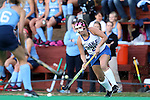 16 October 2015: Duke's Hunter Bracale. The University of North Carolina Tar Heels hosted the Duke University Blue Devils at Francis E. Henry Stadium in Chapel Hill, North Carolina in a 2015 NCAA Division I Field Hockey match. UNC won the game 2-1.