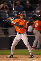 March 2, 2010:  Thomas Powers of the Miami Hurricanes during a game at Legends Field in Tampa, FL.  Photo By Mike Janes/Four Seam Images
