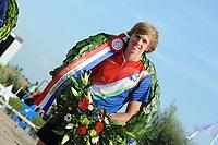 FIERLJEPPEN/POLSTOKVERSPRINGEN: 26-08-2017 Jaarsveld, Nederlands kampioenschap, Reinier Overbeek 19.17m (jongens), ©foto Martin de Jong