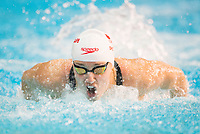 Picture by Allan McKenzie/SWpix.com - 13/12/2017 - Swimming - Swim England Winter Championships - Ponds Forge International Sport Centre - Sheffield, England - Rebecca Smith takes gold in the womens open 100m butterfly.