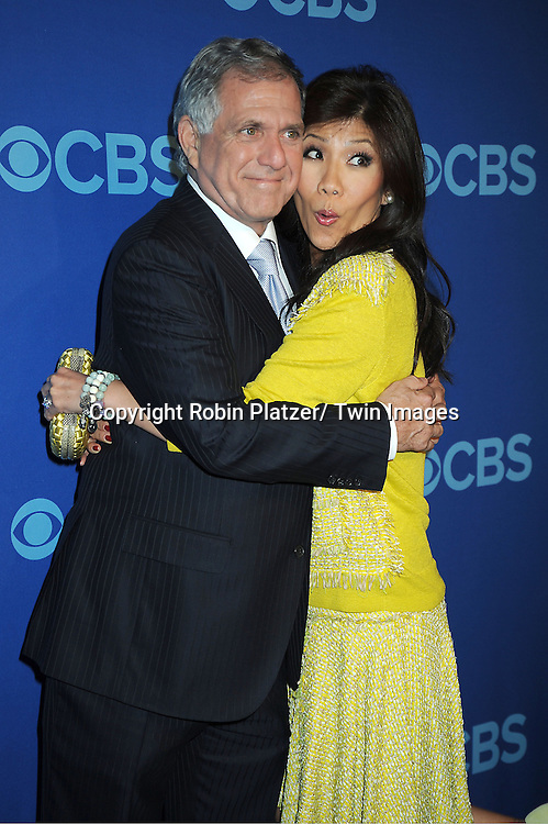 Les Moonves and Julie Chen attends the CBS Prime Time 2013 Upfront on May 15, 2013 at Lincoln Center in New York City.