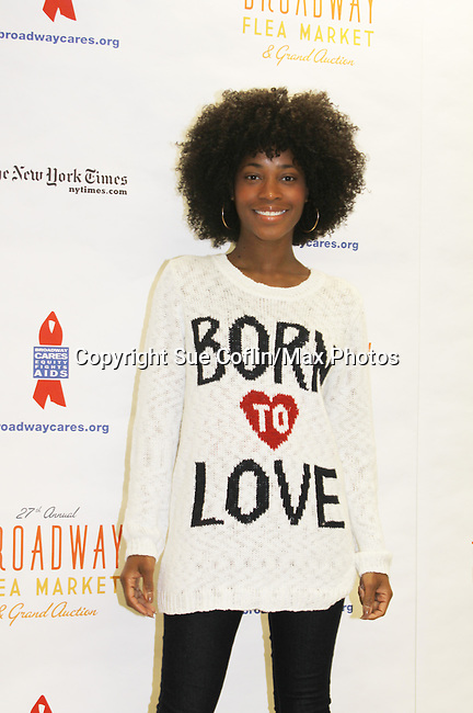 Valisia LeKae at the 27th Annual Broadway Flea Market & Grand Auction to benefit Broadway Cares/Equity Fights Aids in Shubert Alley, New York City, New York.  (Photo by Sue Coflin/Max Photos)