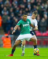 West Bromwich Albion Salomon Rondon  and Tottenham's Eric Dier during the Premier League match between Tottenham Hotspur and West Bromwich Albion at Wembley Stadium, London, England on 25 November 2017. Photo by Andrew Aleksiejczuk / PRiME Media Images.